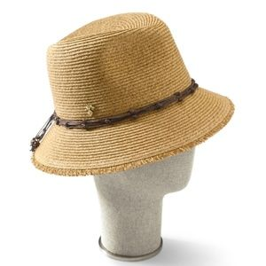 Tommy Bahama Paper Braid Fedora in Toast